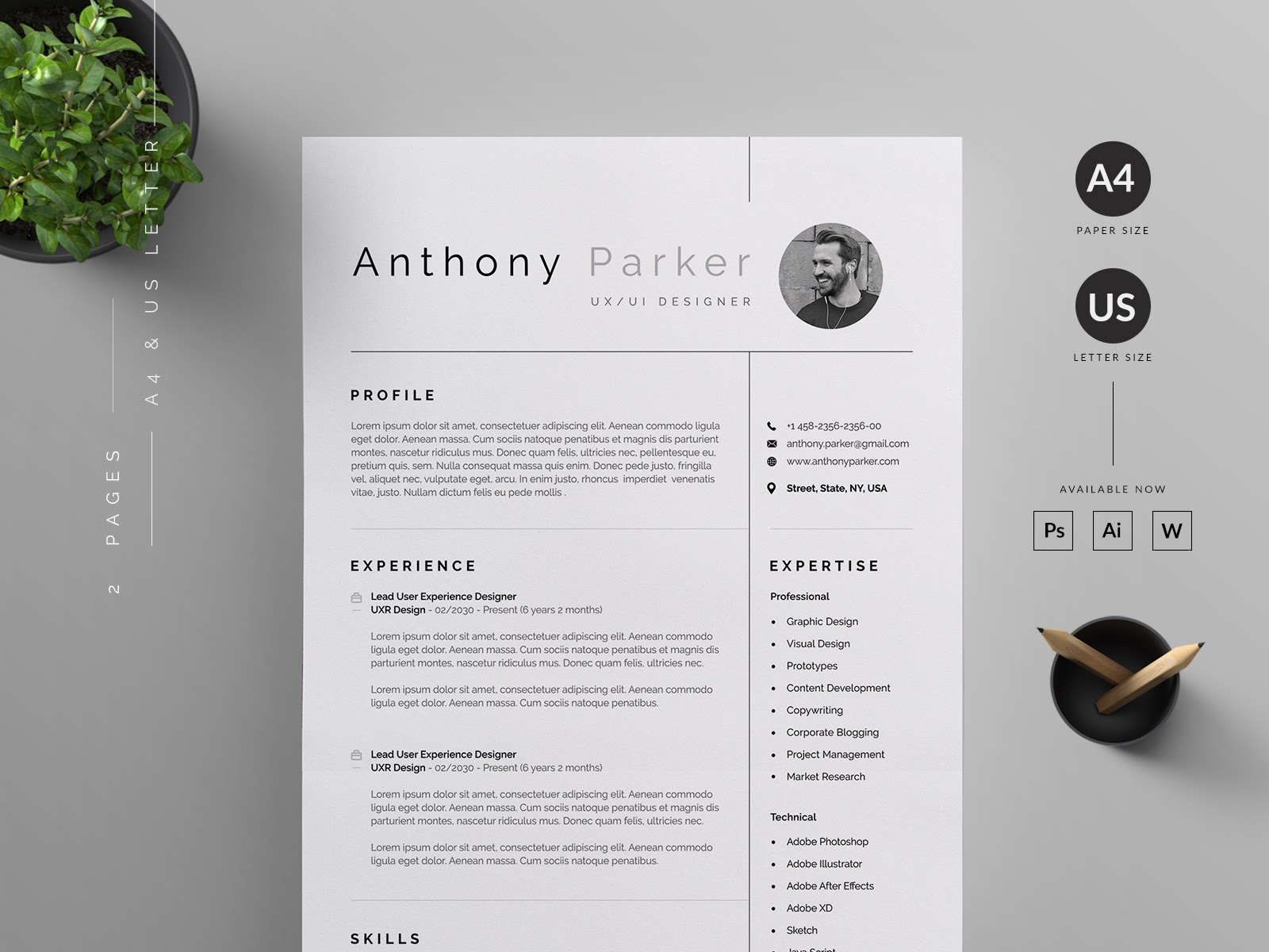 a great example of UX designer resume