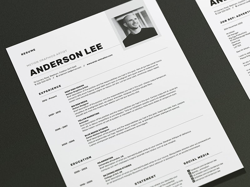 web designer resume example