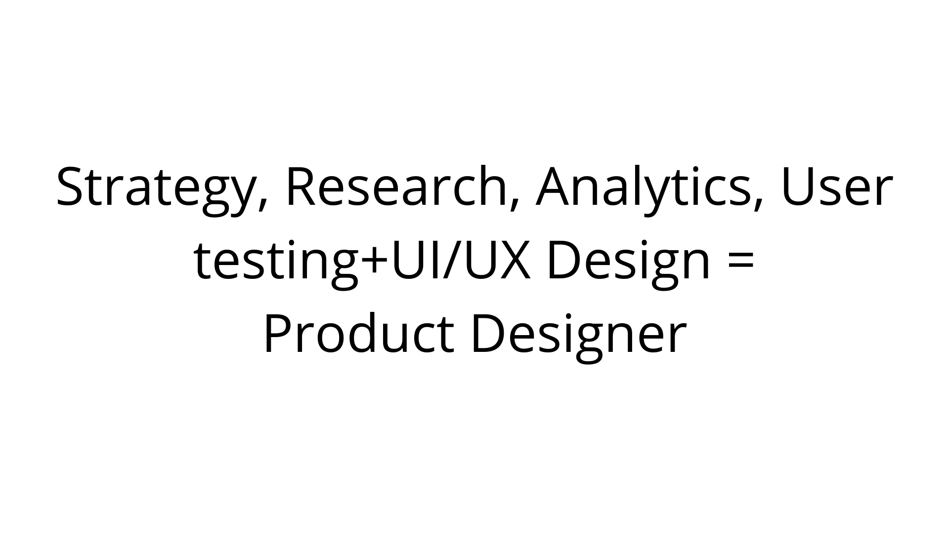 what does a product designer do?