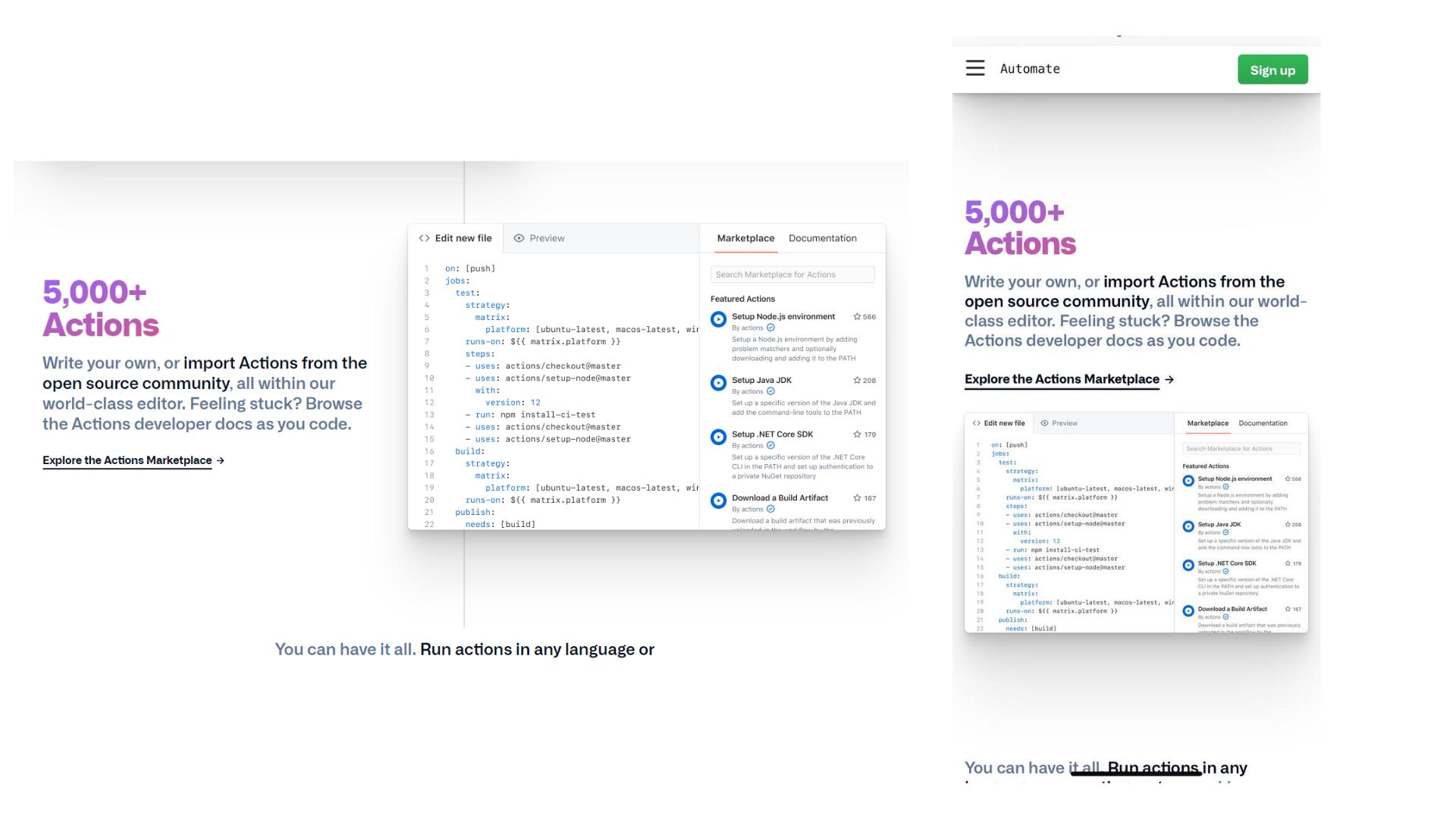 GitHub: responsive web design example