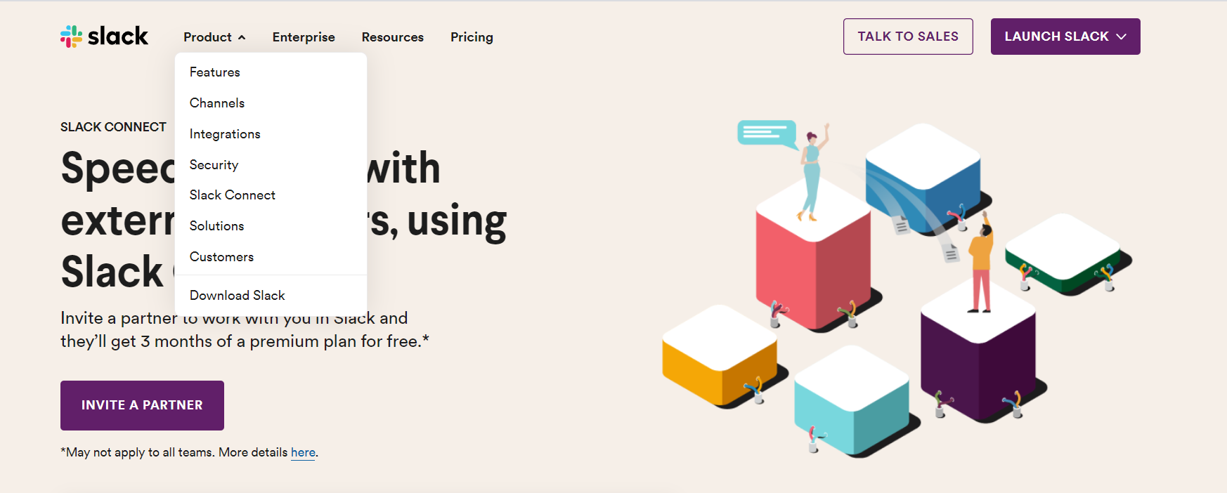 usability of Slack's website design