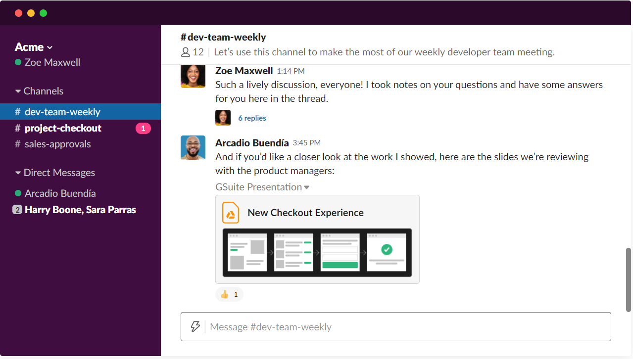 engaging animation of Slack's website
