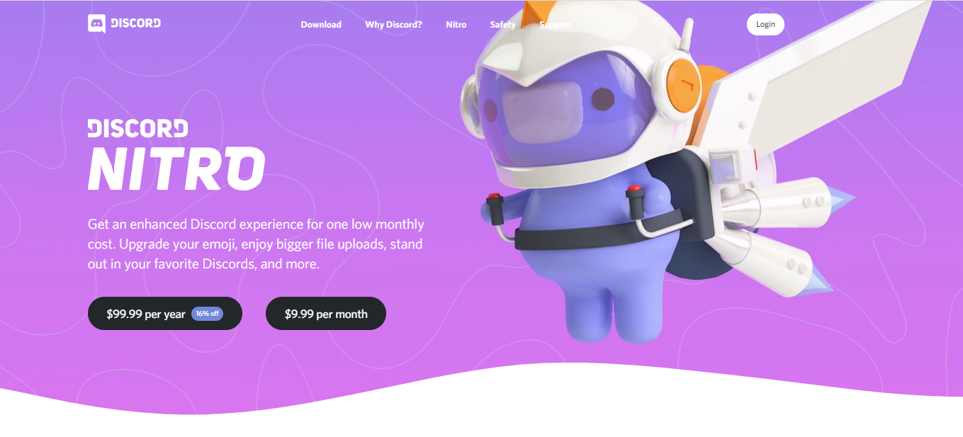 Discord web design examples: gamification approach