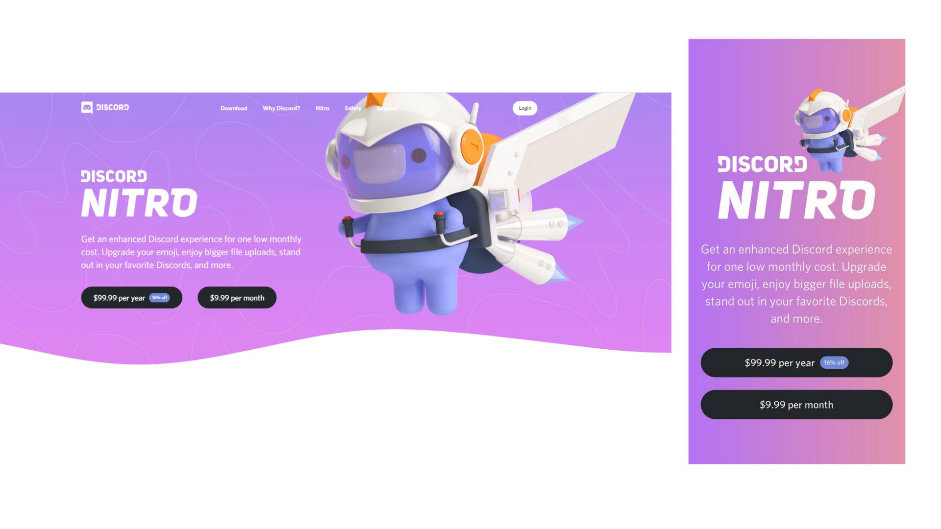 Discord responsive web design