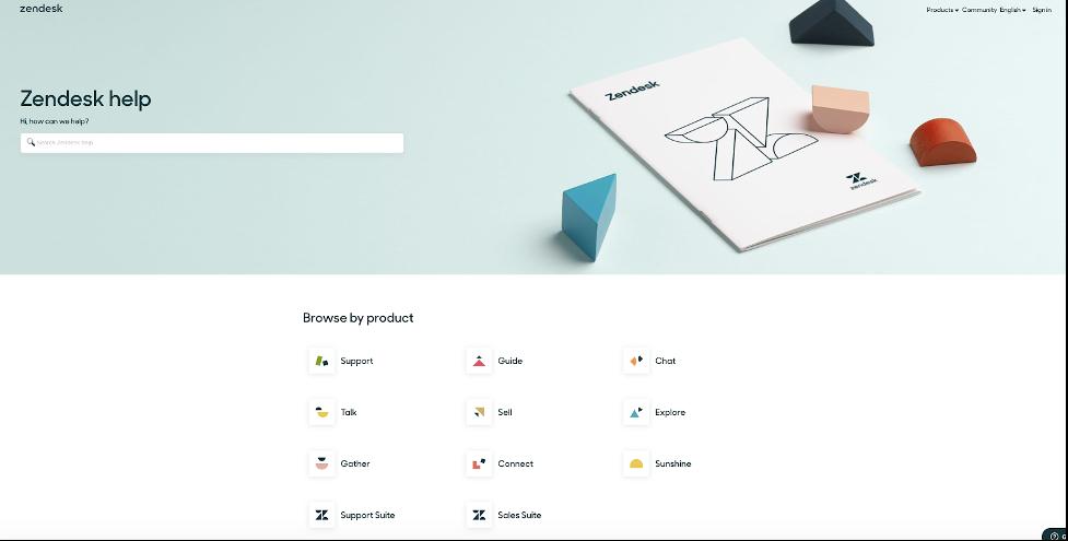 zendesk help page design