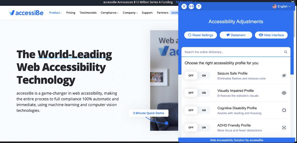 userway main page design
