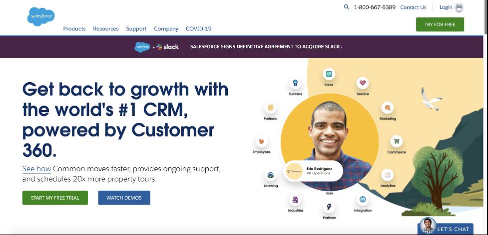 salesforce main page design