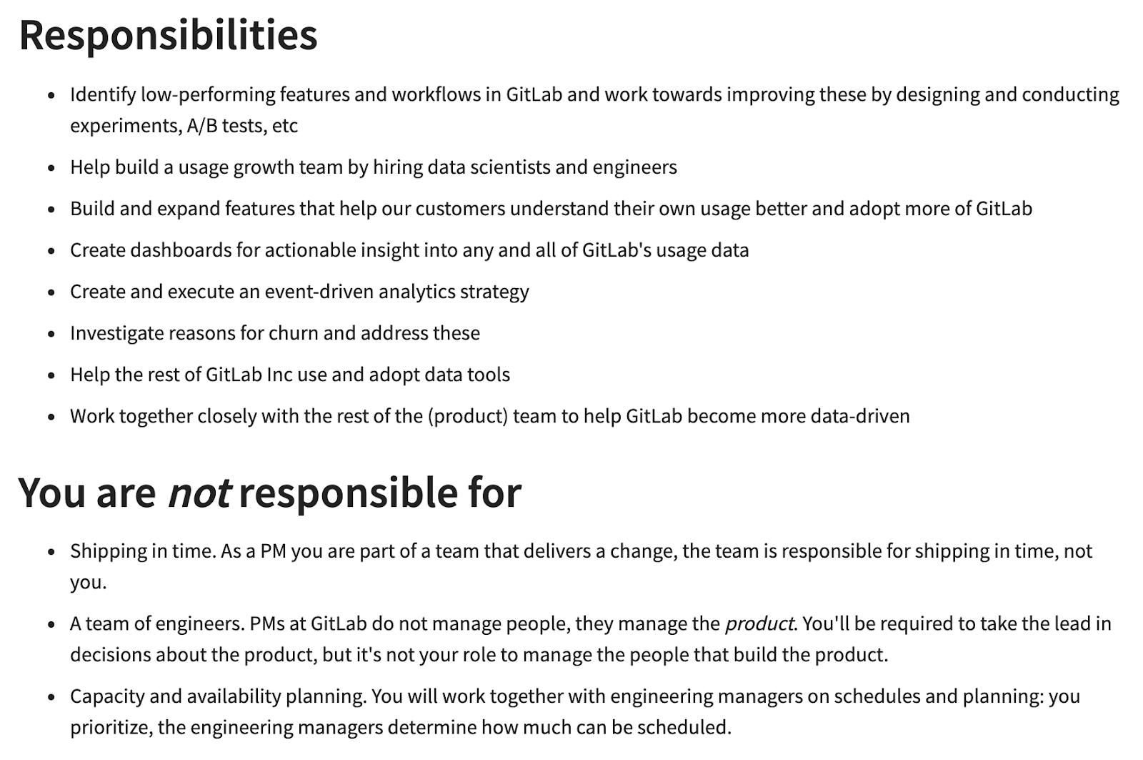 growth product manager job description