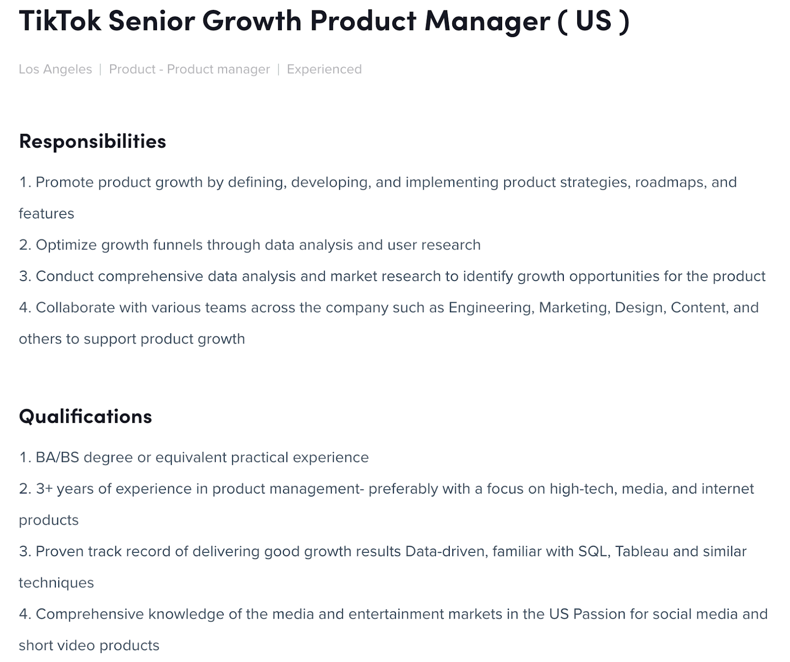 responsibilities of a growth product manager