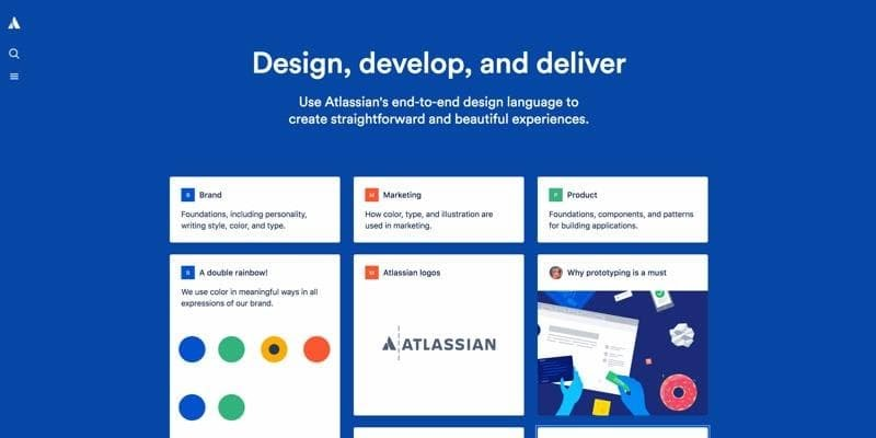 atlassian design system page image