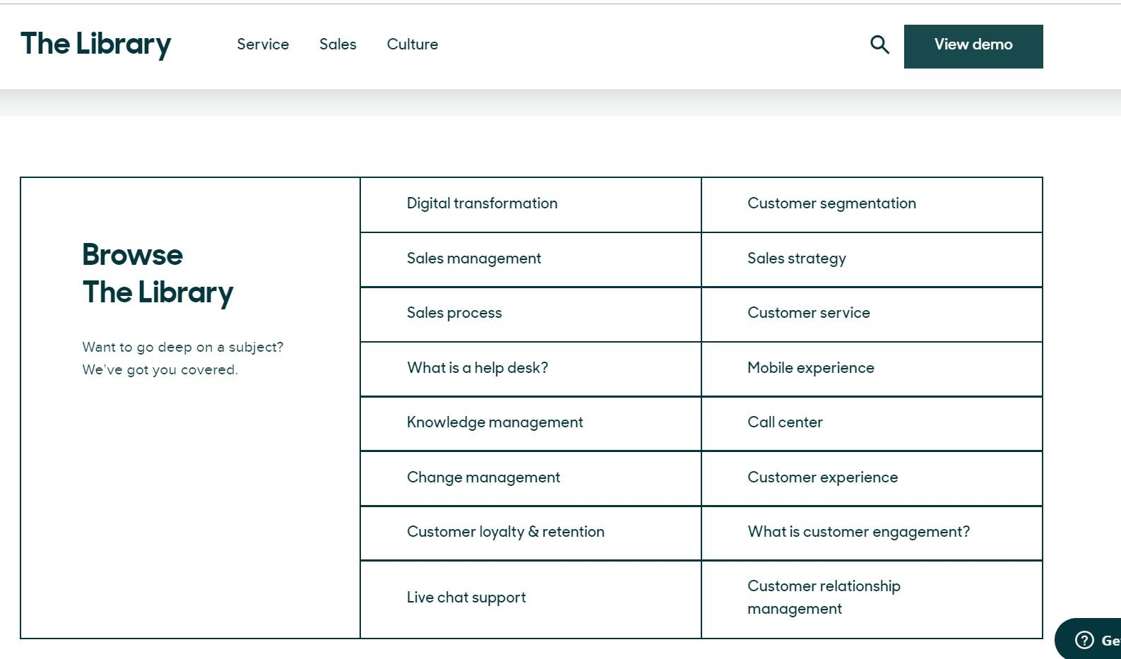 an image shows Zendesk knowledge library page