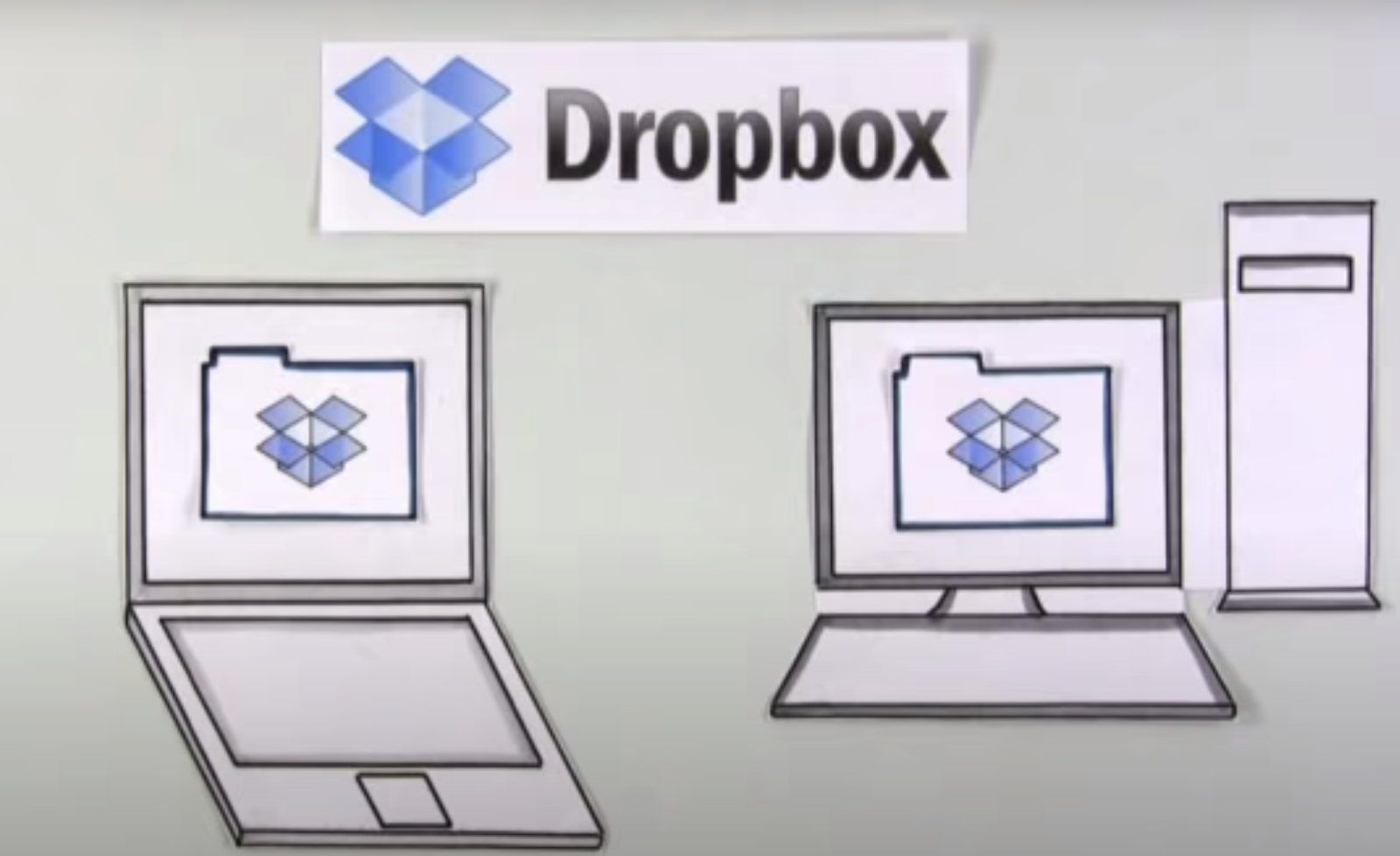 an image showing Dropbox MVP wireframe