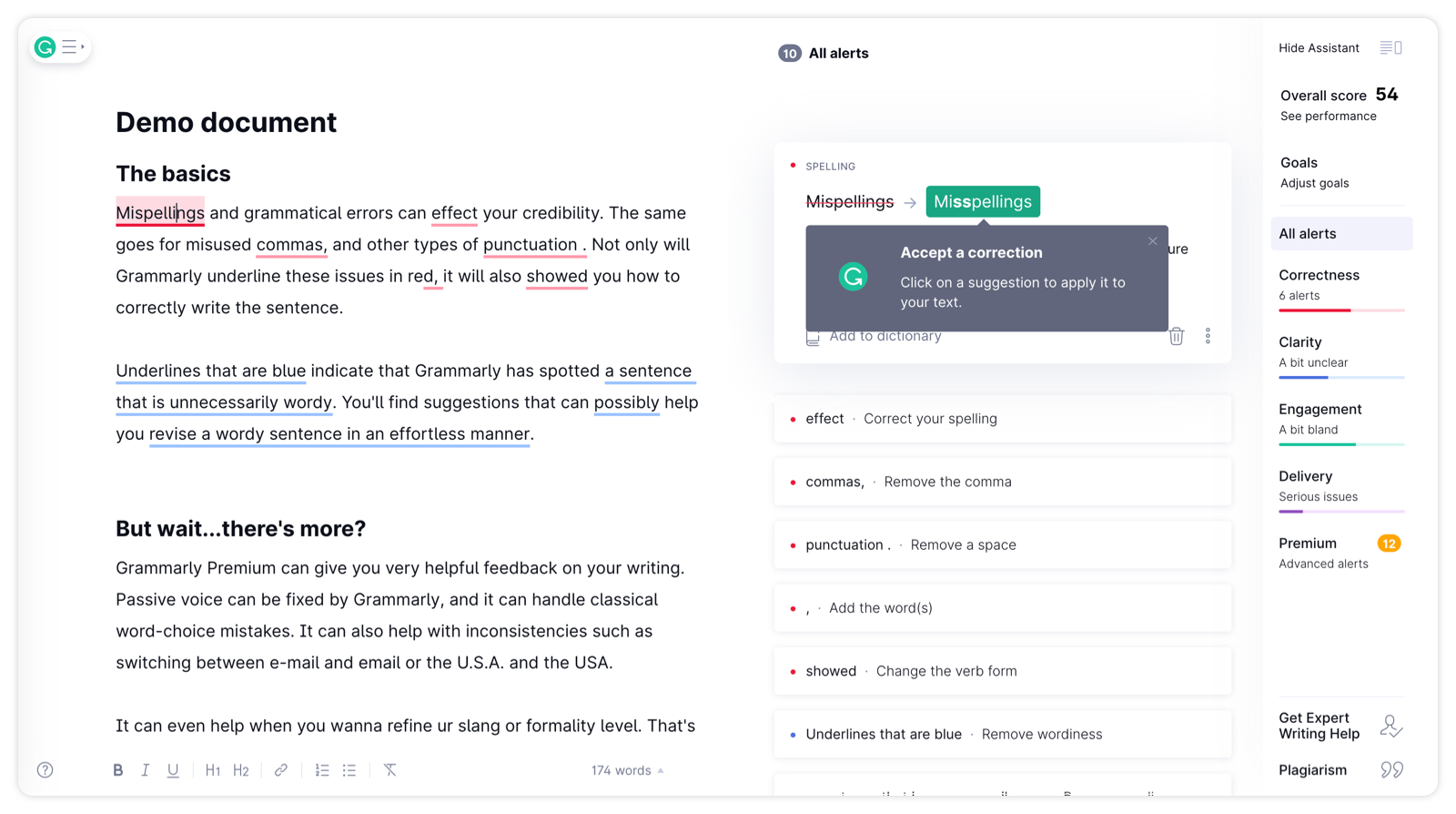 Grammarly user onboarding example