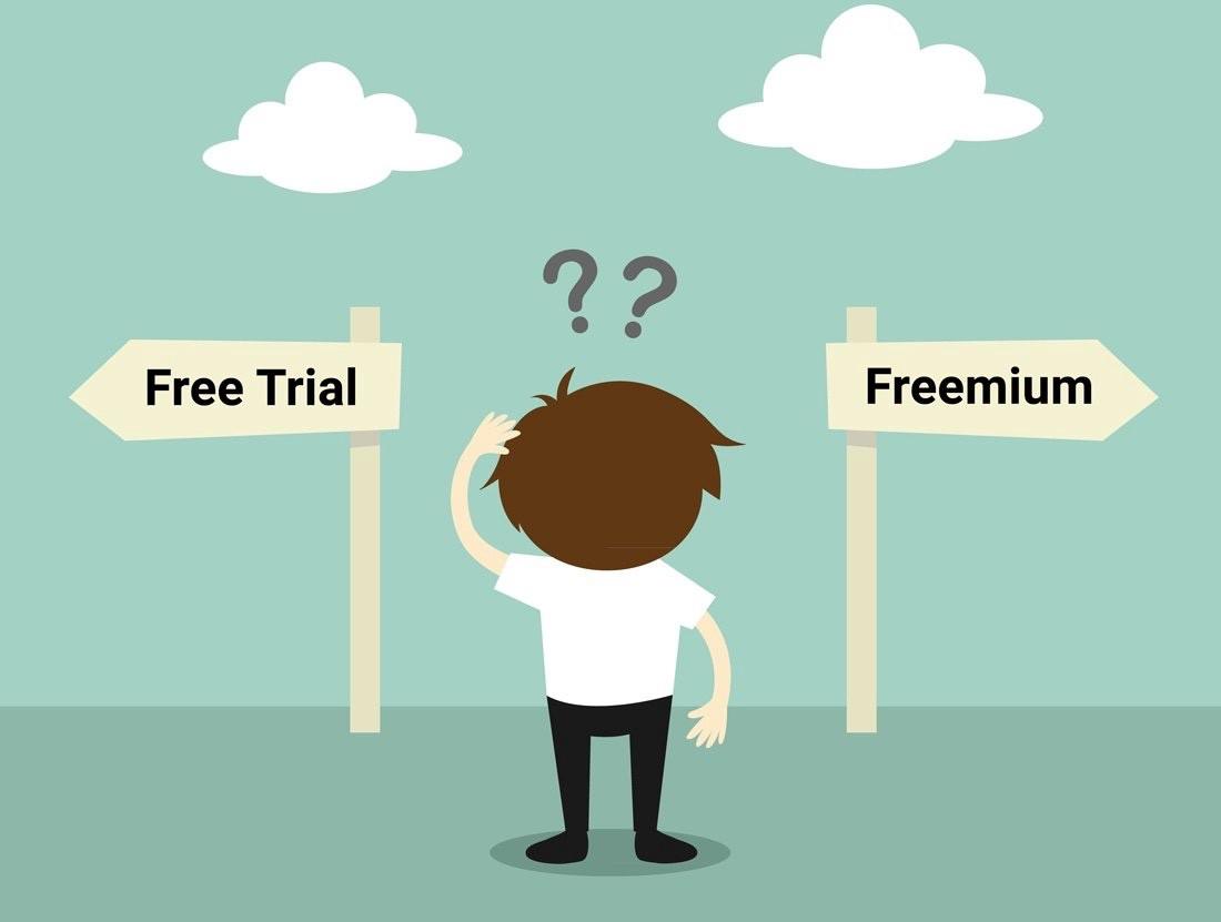 choosing between free trial and freemium for SaaS app