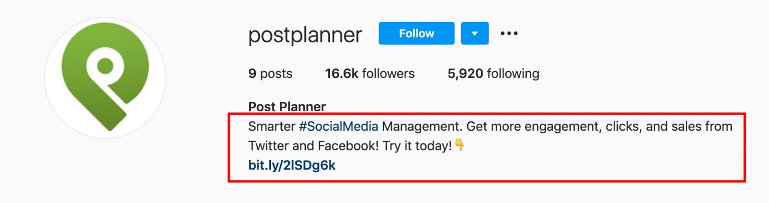 SaaS marketing: example of Postplanner Instagram account