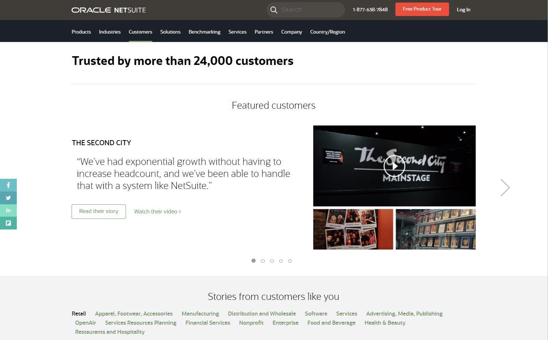 Netsuite stories of SaaS customers success