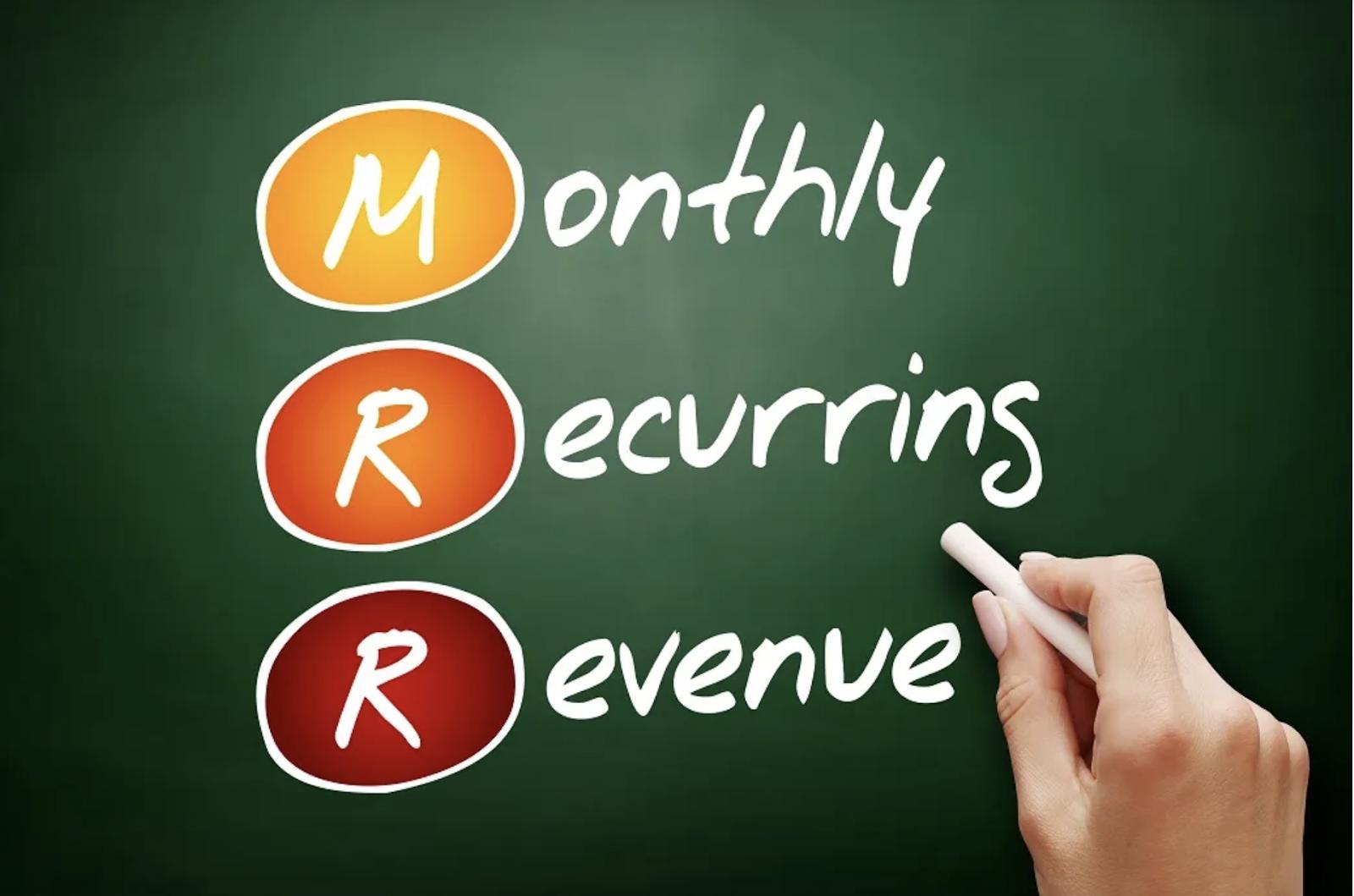monthly recurring revenue