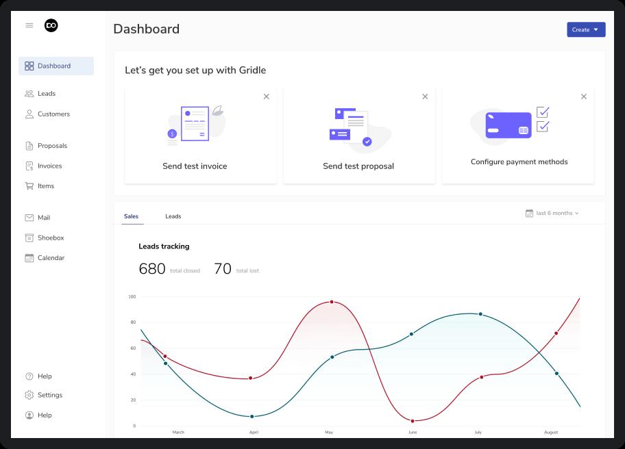 SaaS dashboard design example