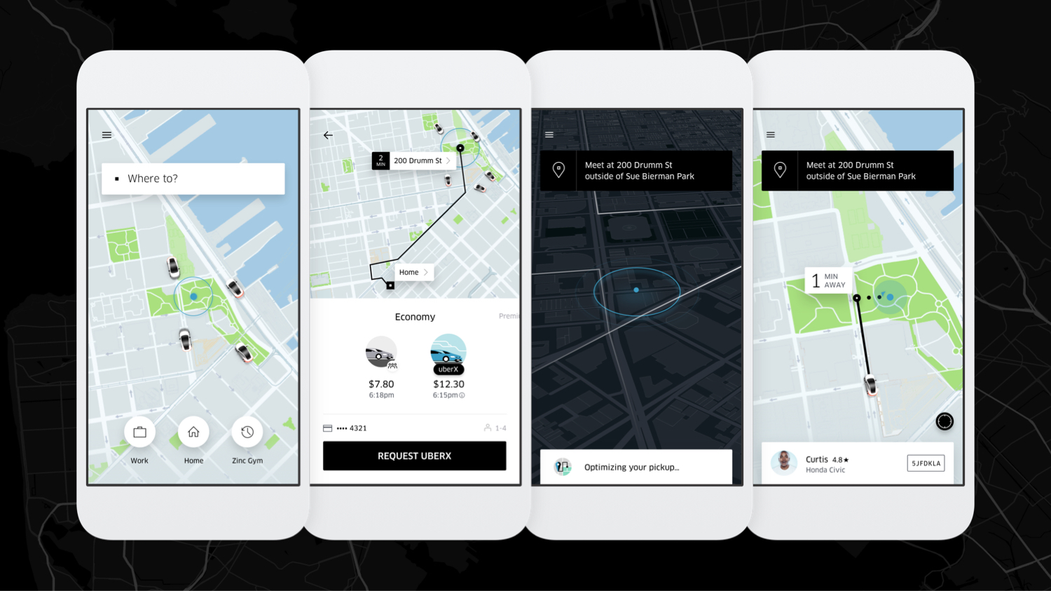 """Uber """"where to?"""" button redesign"""