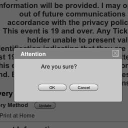 """the image of system message """"Are you sure?"""" and the options of answers """"Yes"""" and """"No"""""""