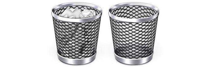 The image of two recycle bins