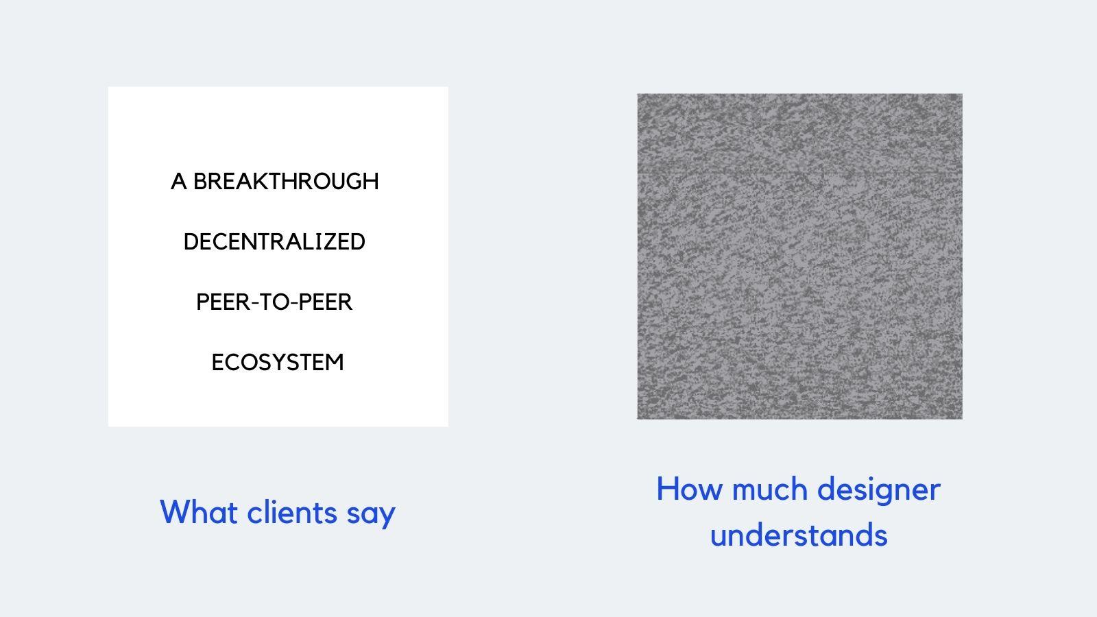 UX design documentation example (the bad one) meme