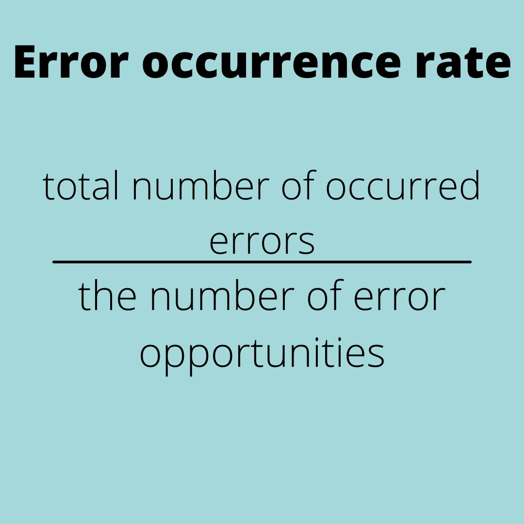 UX metric examples: error occurrence rate