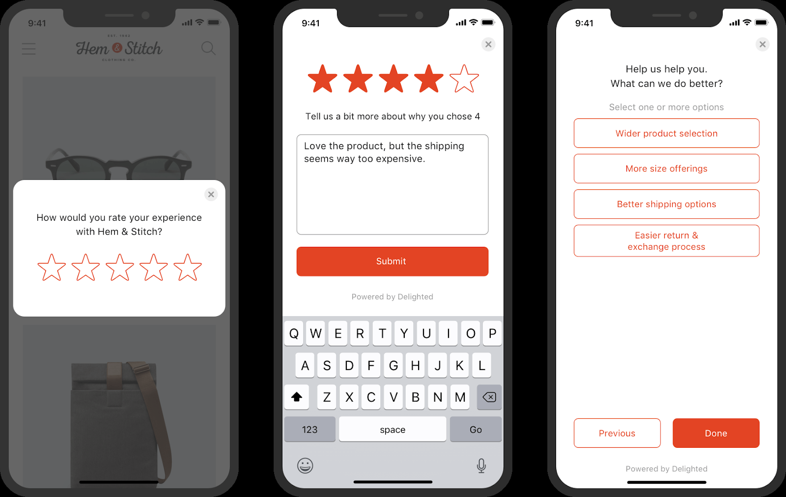 Targeted polls examples in mobile appications