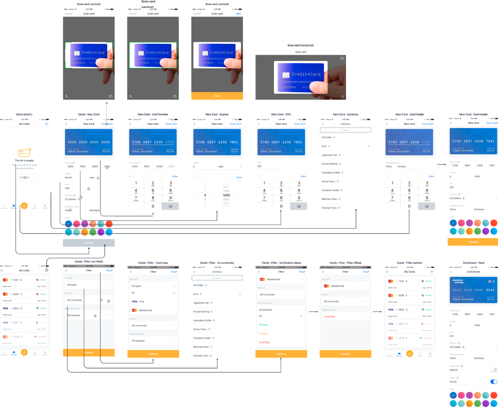 screen flow example