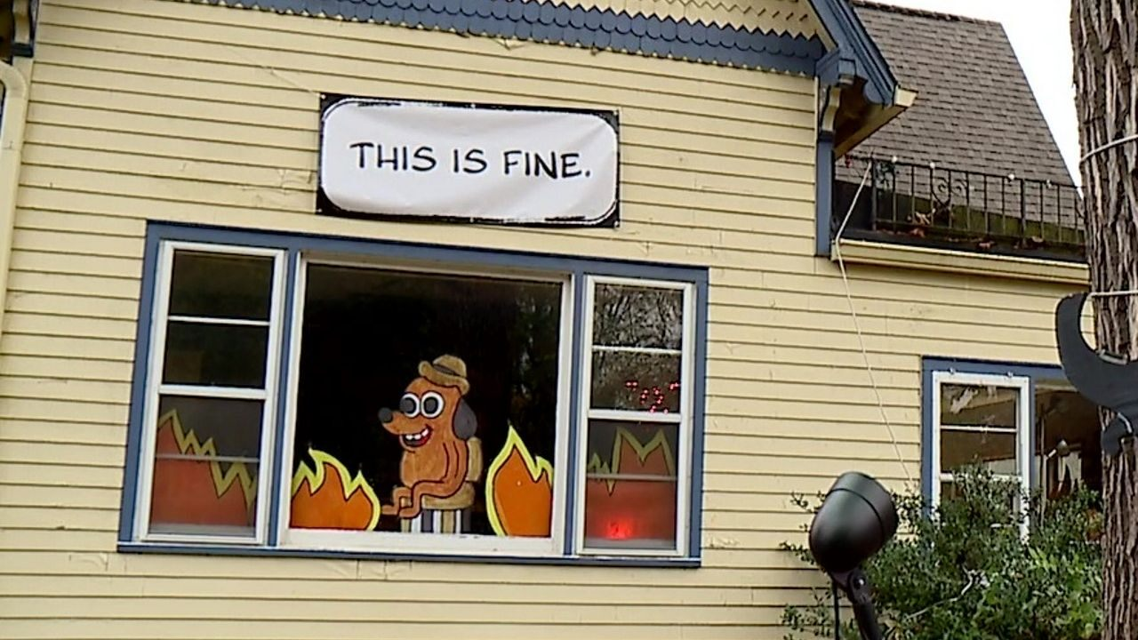 home office this is fine meme
