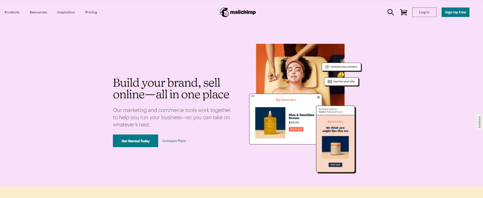 Mailchimp website layout