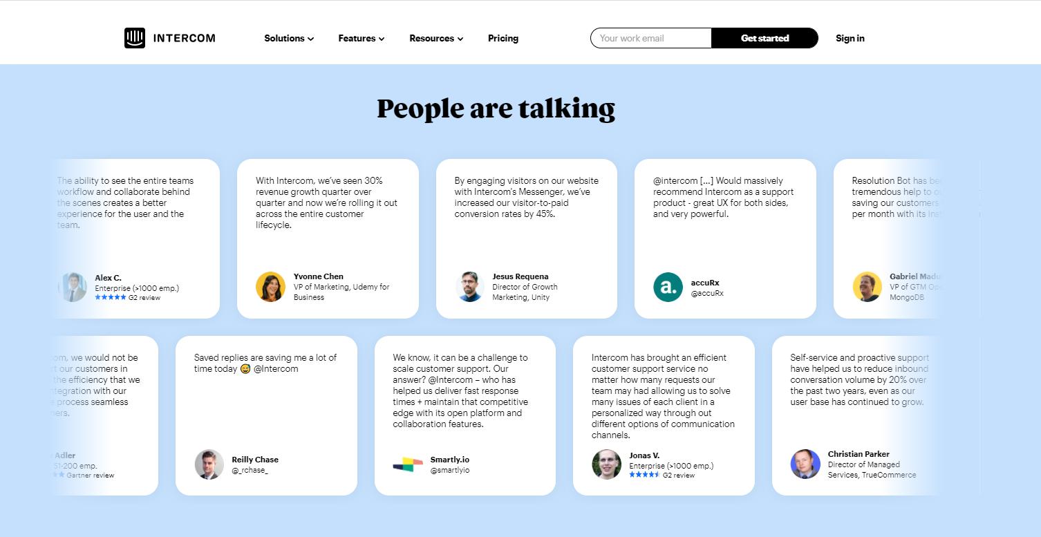 social media design pattern example