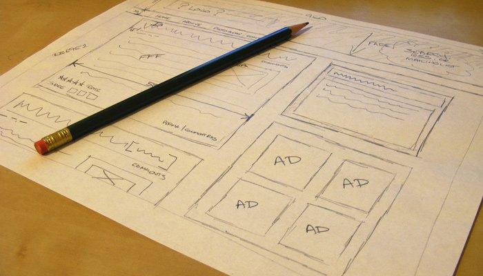 low-fidelity sketch wireframe