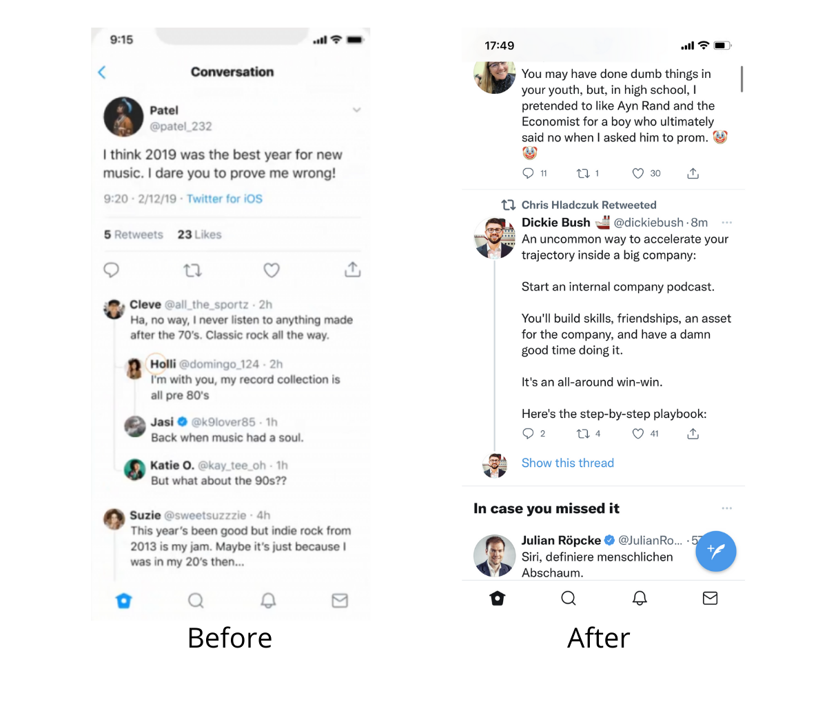 Twitter's redesign in details