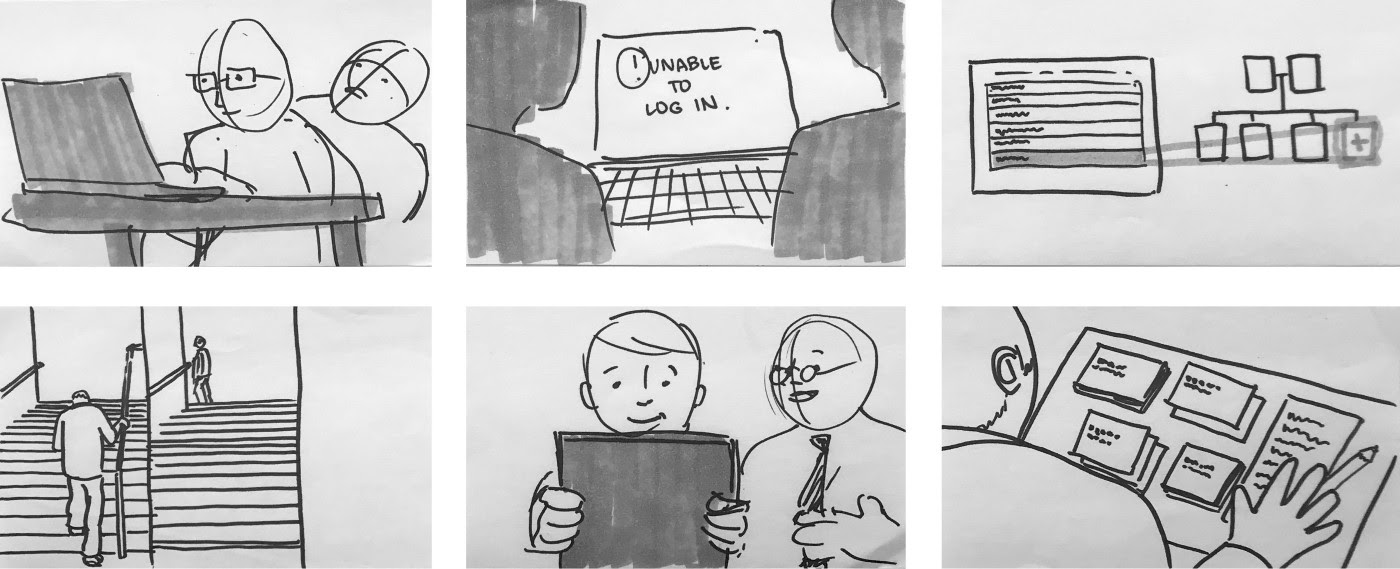 storyboard comic style