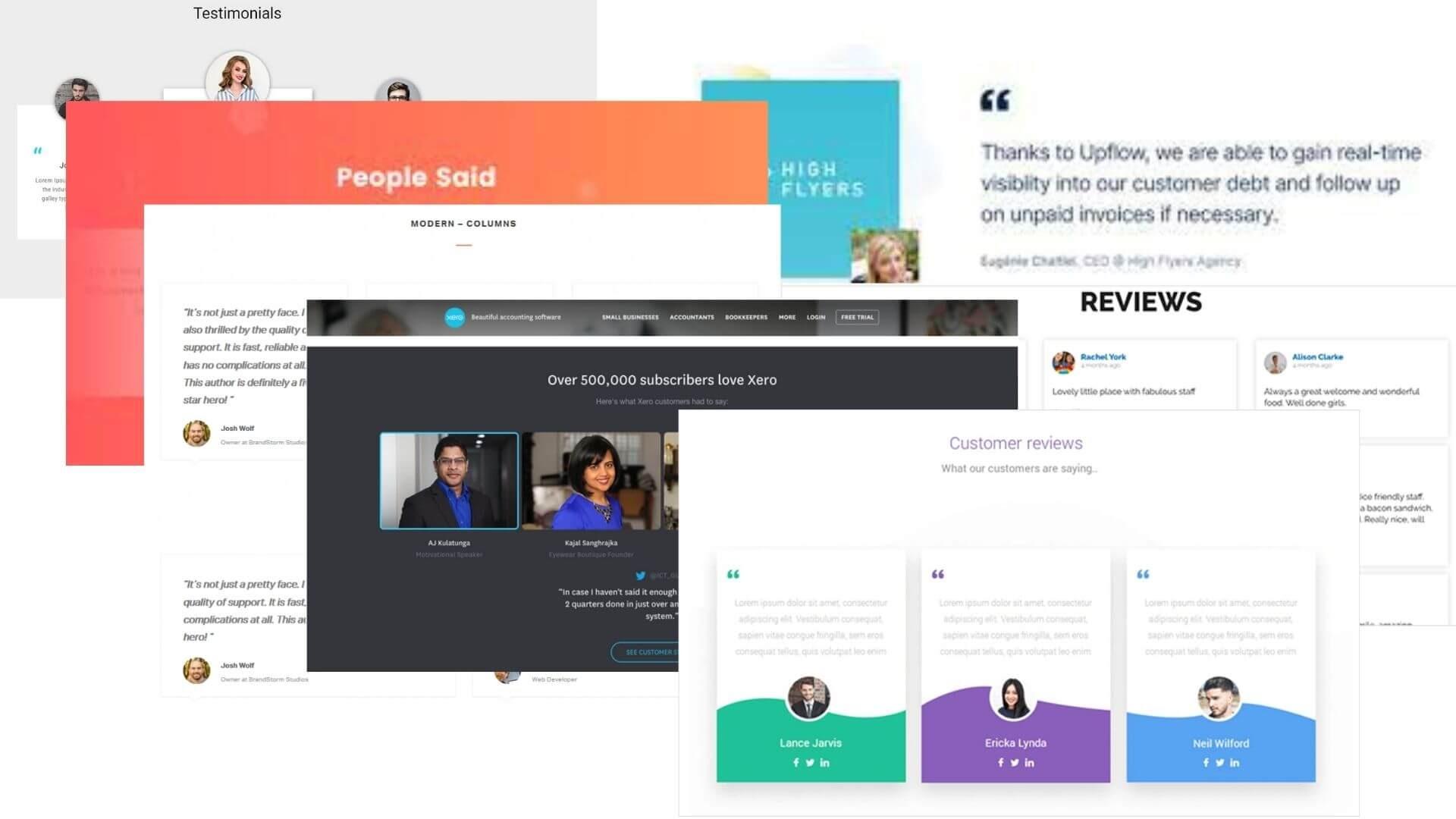 the use of testimonials on companies' websites