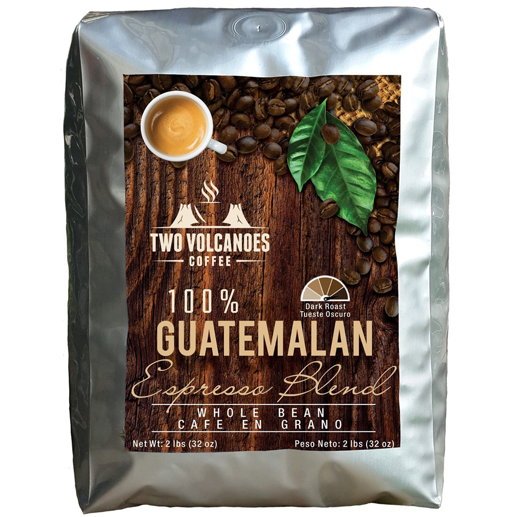 Two Volcanoes Coffee Espresso Blend