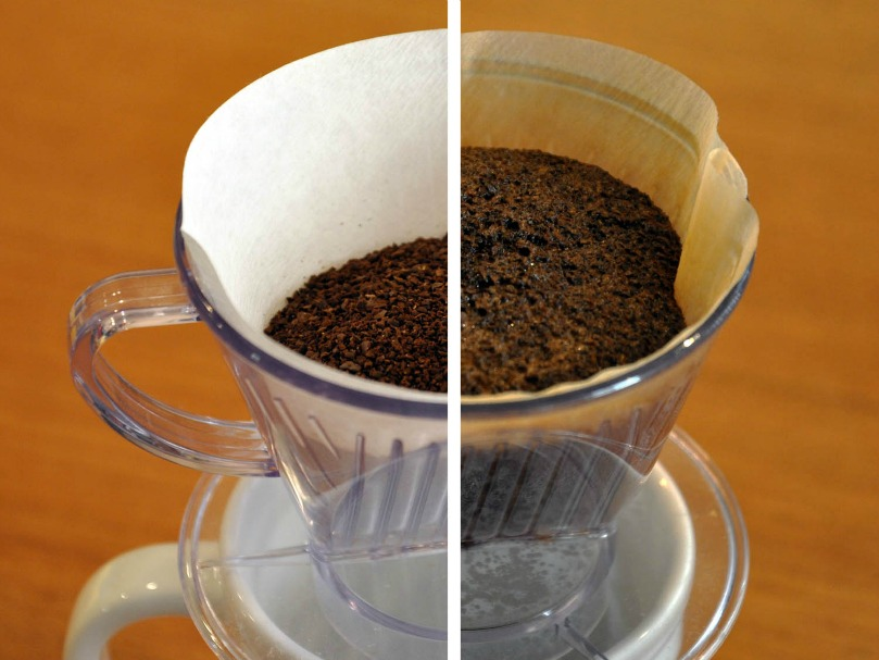 how to use a pour over coffee maker to bloom ground coffee