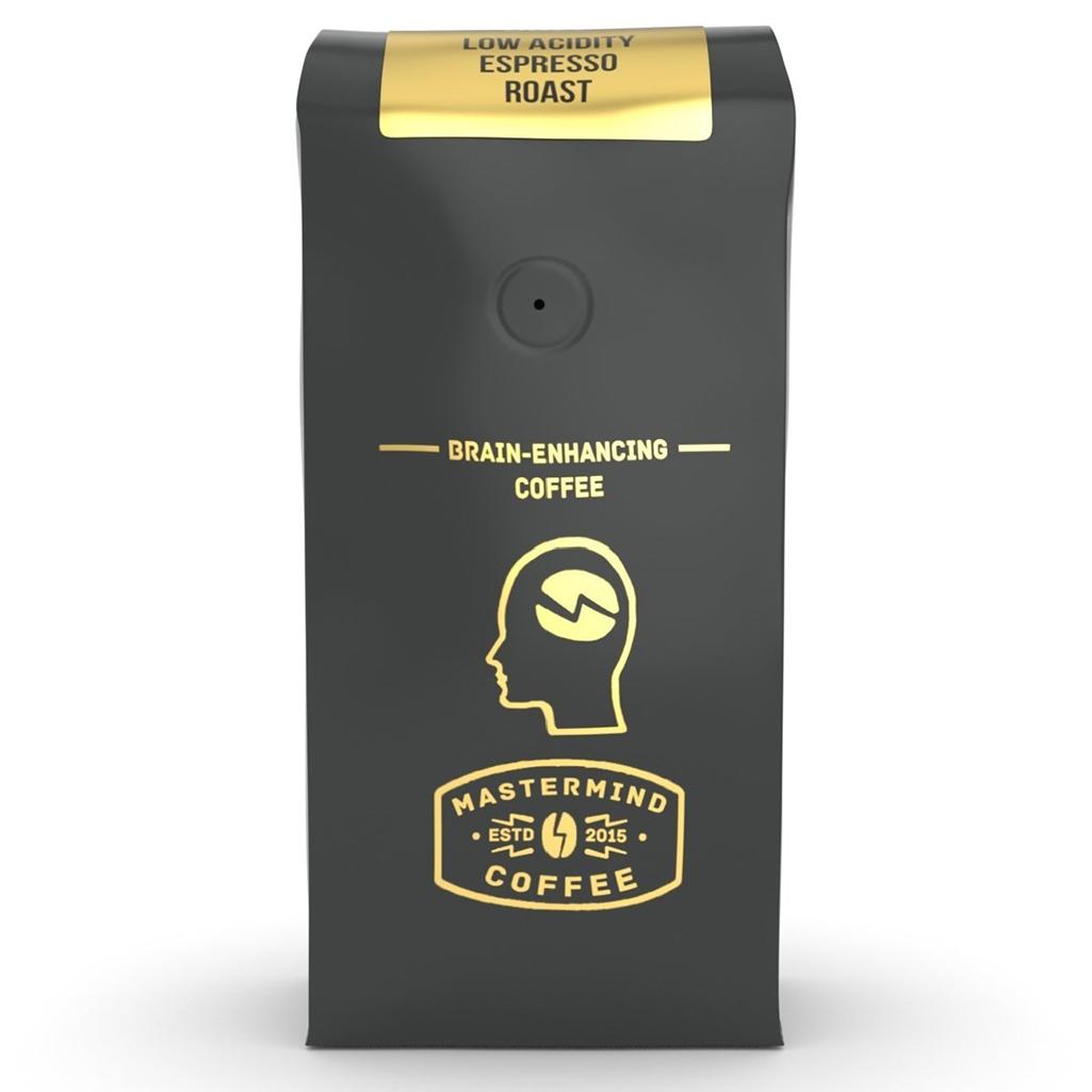 Mastermind Coffee Low-Acid, Brain-Enhancing Espresso Roast
