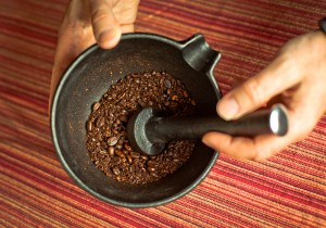 how to grind coffee beans with a mortar and pestle