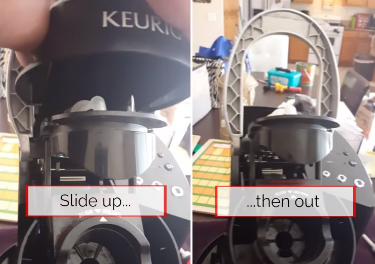 step 2 for how to drain a keurig is to remove the top