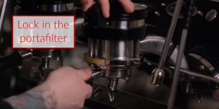 how to make espresso step 9 lock in your portafilter
