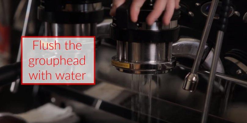 how to make espresso step 8 flush your espresso machine