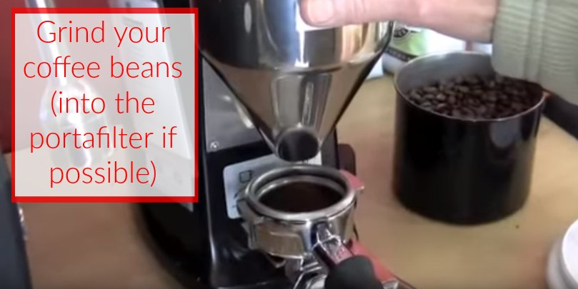 how to make espresso step 4 grind your beans