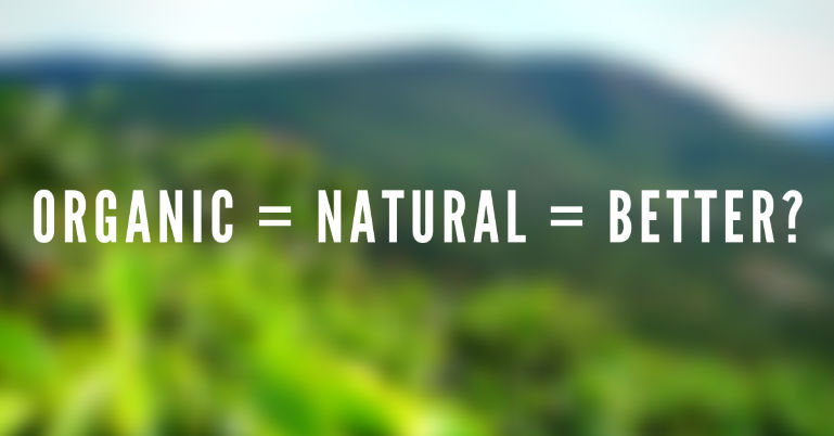 organic coffee is natural is better