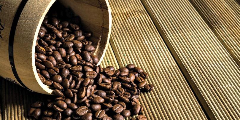 honduran coffee beans spilling
