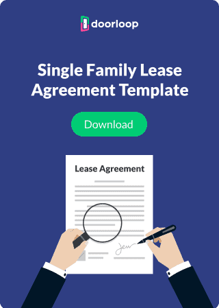 single family lease agreement template