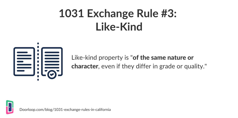 1031 exchange rule 3 - like kind