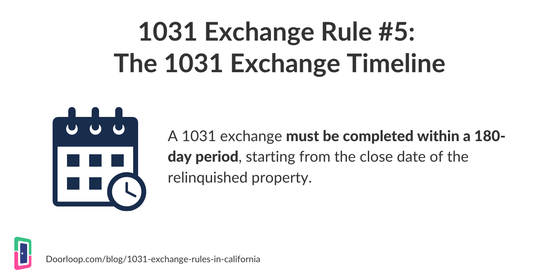 1031 exchange rule 5 - timeline