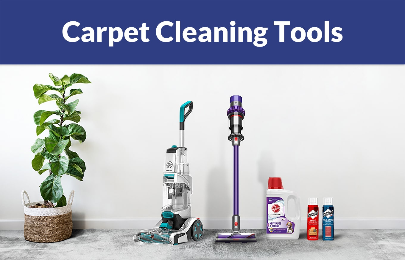 Rental property carpet cleaning tools